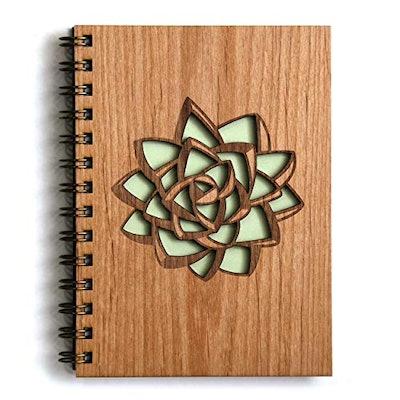 Succulent Laser Cut Wood Journal
