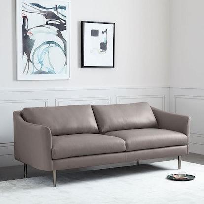 Sloane Leather Sofa - Taupe