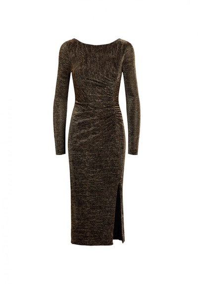 Lovey Metallic Jersey Midi Dress