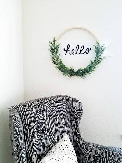 "Succulent ""Hello"" Wreath"