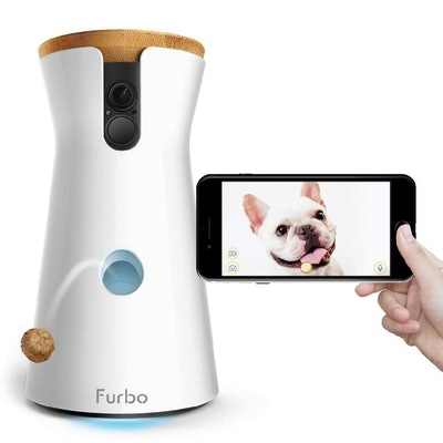 Furbo Dog Camera: Treat Tossing, Full HD Wifi Pet Camera and 2-Way Audio, Designed for Dogs, Compatible with Alexa