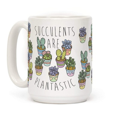 Succulents Are Plantastic Funny Plant Gift 15 OZ Coffee Mug