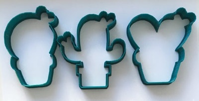 Cactus Succulent In A Pot Cookie Cutters