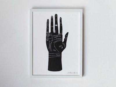 Palmistry Hand Art Print