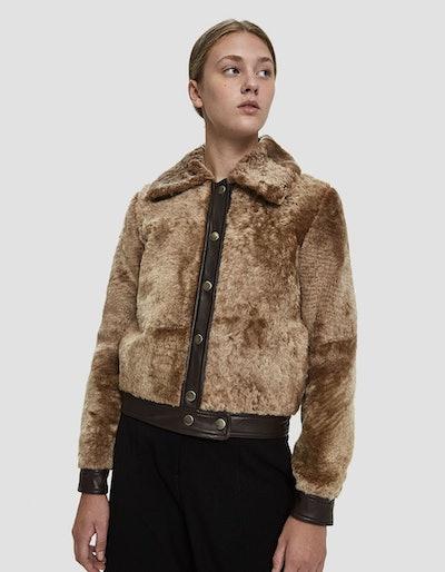 Maryam Nassir Zadeh Linus Fur Bomber Jacket
