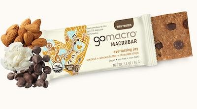 GoMacro Everlasting Joy Coconut, Almond Butter, & Chocolate Chip Bars (12 Pack)