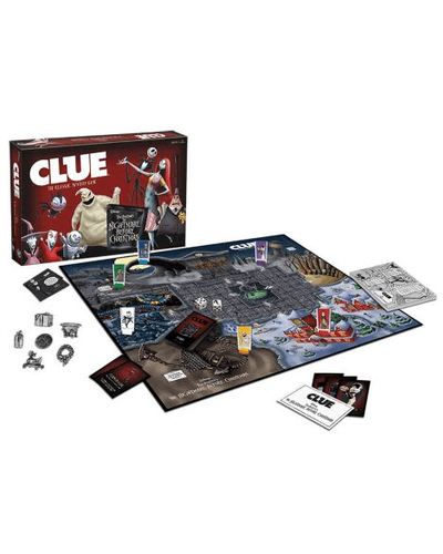 The Nightmare Before Christmas Clue Game