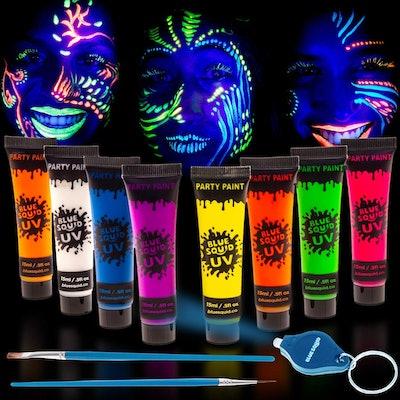 Blue Squid UV Glow-In-The-Dark Fact & Body Paint