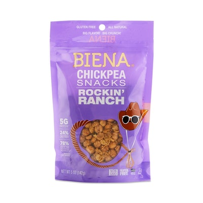 Biena Roasted Chickpea Snacks Rockin' Ranch Flavor