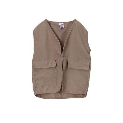 Kids Unisex Polyester Khaki Safari Explorer Vest