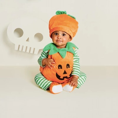 Baby Plush Pumpkin Vest Halloween Costume