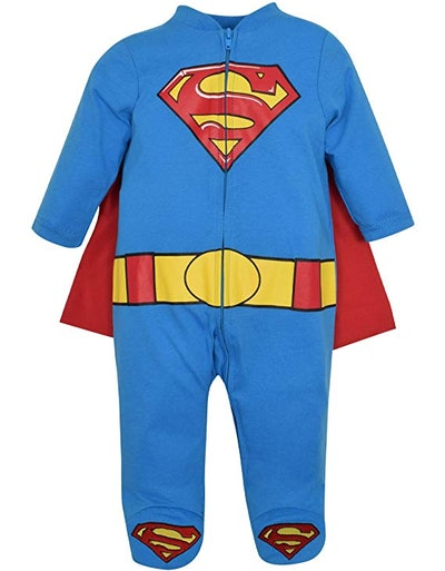 Superman Baby Boys' Coveralls With Cape