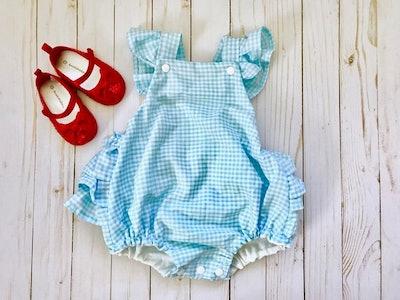 Dorothy Ruffled Baby Girl Romper