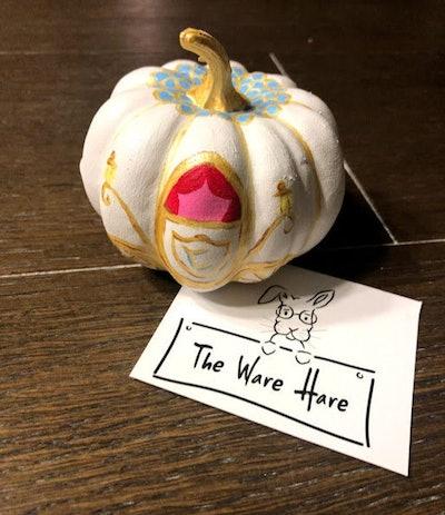 Hand Painted Mini Princess Pumpkin