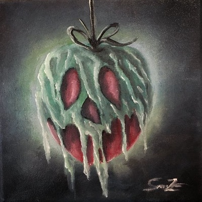 """Poison Apple"" Oil Painting"