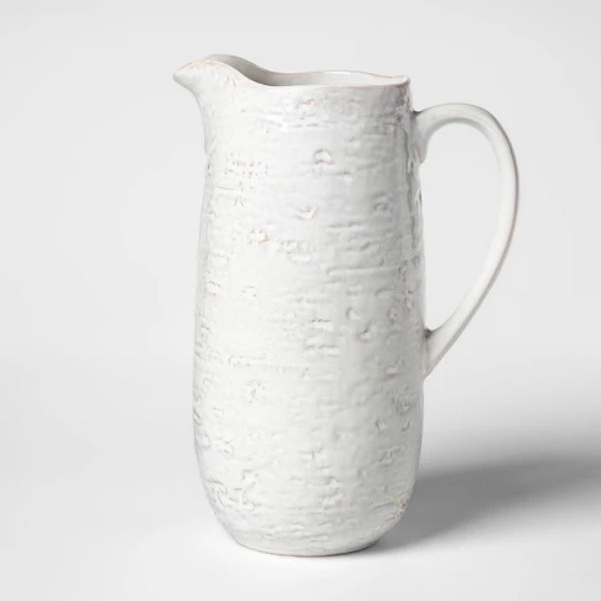 Cravings by Chrissy Teigen 2.1qt Stoneware Pitcher White