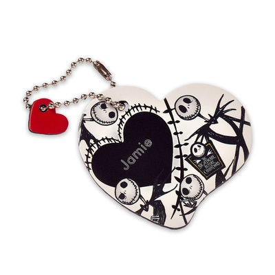 Jack Skellington Leather Luggage Tag