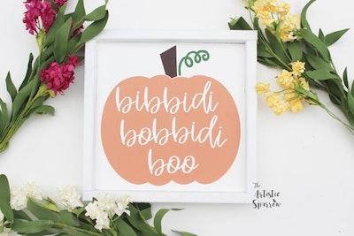 Bibbidi Bobbidi Boo Wood Sign