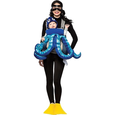 Octopus and Diver Mom and Baby Costume