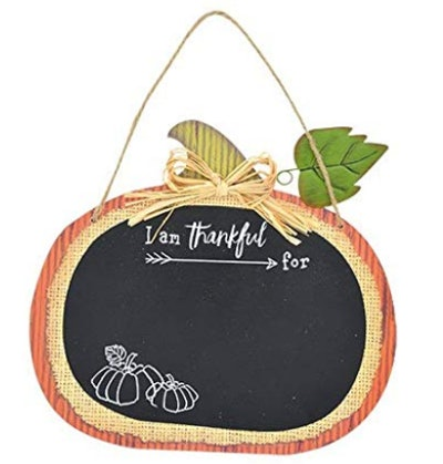 Thankful Pumpkin Shaped Chalkboard