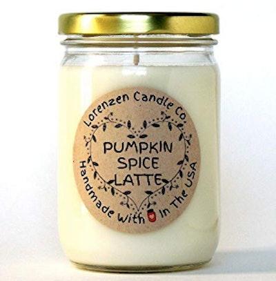 Pumpkin Spice Latte Soy Candle, 12oz