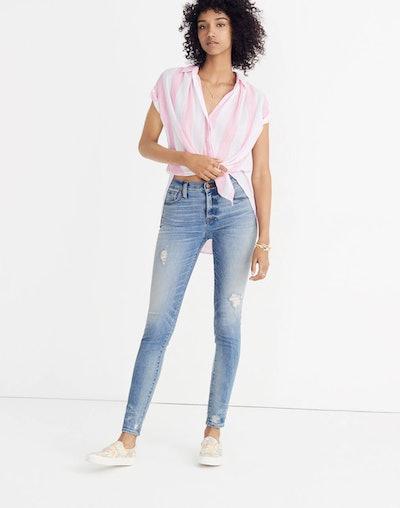 "9"" High-Rise Skinny Jeans: Destructed-Hem Edition"