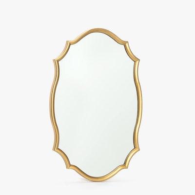 Golden Wavy Frame Mirror