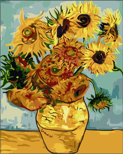 Tonzom Paint-By-Numbers Van Gogh Sunflowers