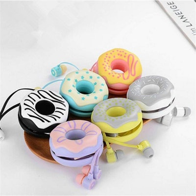 QearFun Candy Color Donut Earphones