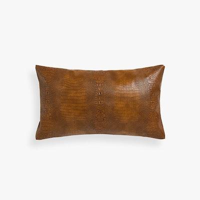 Mock-Crock Throw Pillow Cover