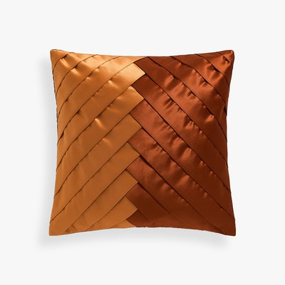 Diagonal Pleated Throw Pillow Cover