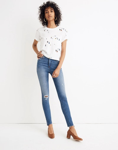 "10"" High-Rise Skinny Jeans: Drop Step-Hem Edition"