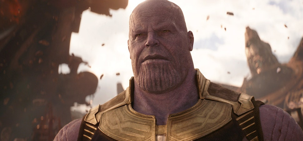 The Thanos Reacting To The Captain Marvel Trailer Meme Is Marvel