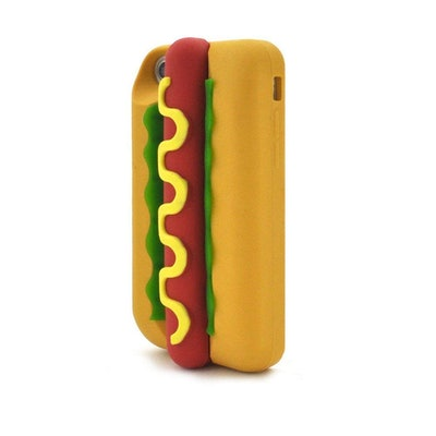 Silicone Case For iPhone 6 & iPhone 6S & iPhone 7 & iPhone 8 (Brown-Hot Dog)