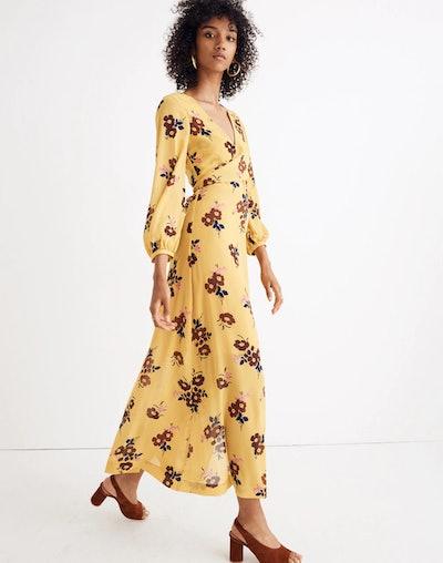 Wrap-Around Maxi Dress in Retro Bouquet