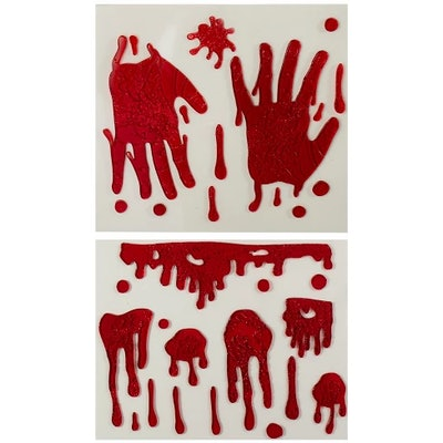 Halloween Window Clings Bloody Hands and Drops - Hyde and Eek! Boutique