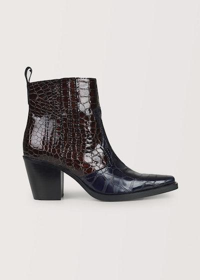 Ganni Callie Boots in Ganache