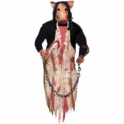 Butcher Pig 36-inch Hanging Prop Halloween Decoration