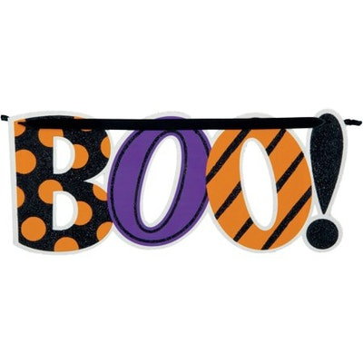 Boo Hanging Sign Halloween Decoration