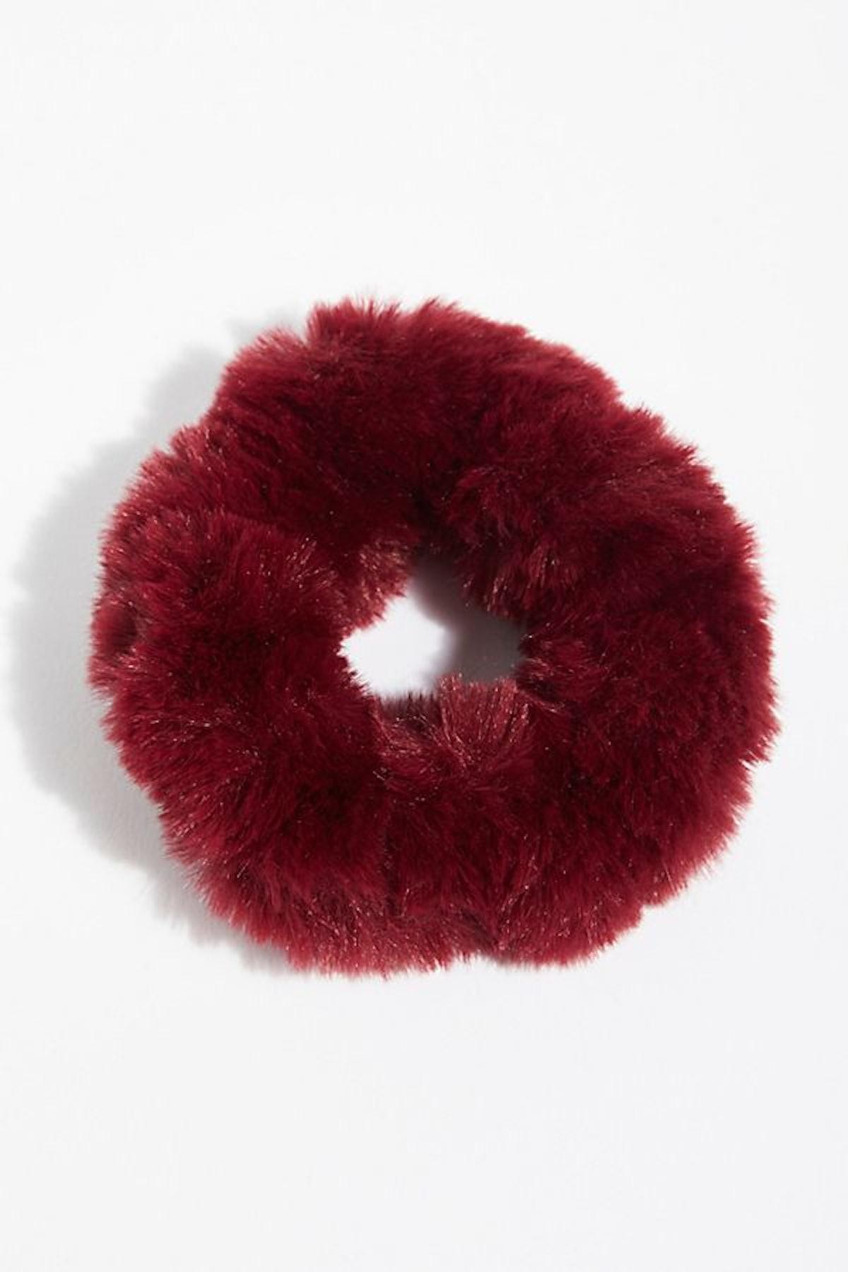 Fuzzy Faux Fur Scrunchie