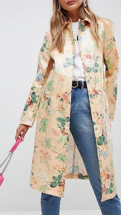 Floral Coat In Vinyl