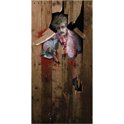 Zombie Door Cover Halloween Decoration