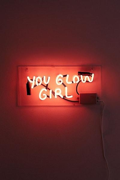 Amber Ibarreche X UO You Glow Girl Neon Sign