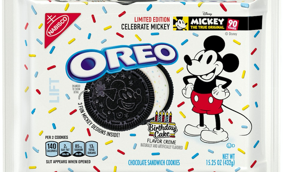 Birthday Cake Oreos For Mickey Mouses 90th Anniversary Are Here So