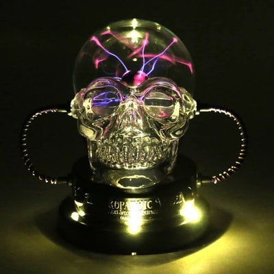 Halloween Plasma Skull Black - Hyde and Eek! Boutique