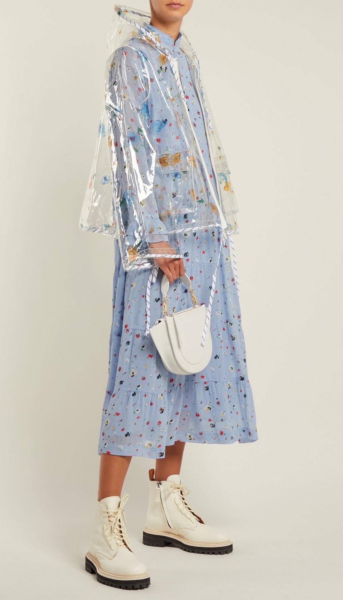 Petunia Transparent PVC Rain Jacket