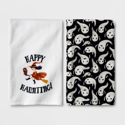 Happy Haunting Halloween Hand Towel 2-pack - Hyde and Eek! Boutique