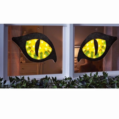 28in Halloween Lighted Green Cat Eyes - Hyde and Eek! Boutique