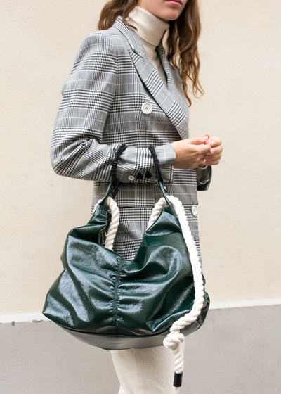 Green Ruffer Bag by Eudon Choi