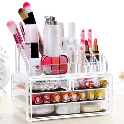 Clear Acrylic Tabletop Cosmetic Organizer
